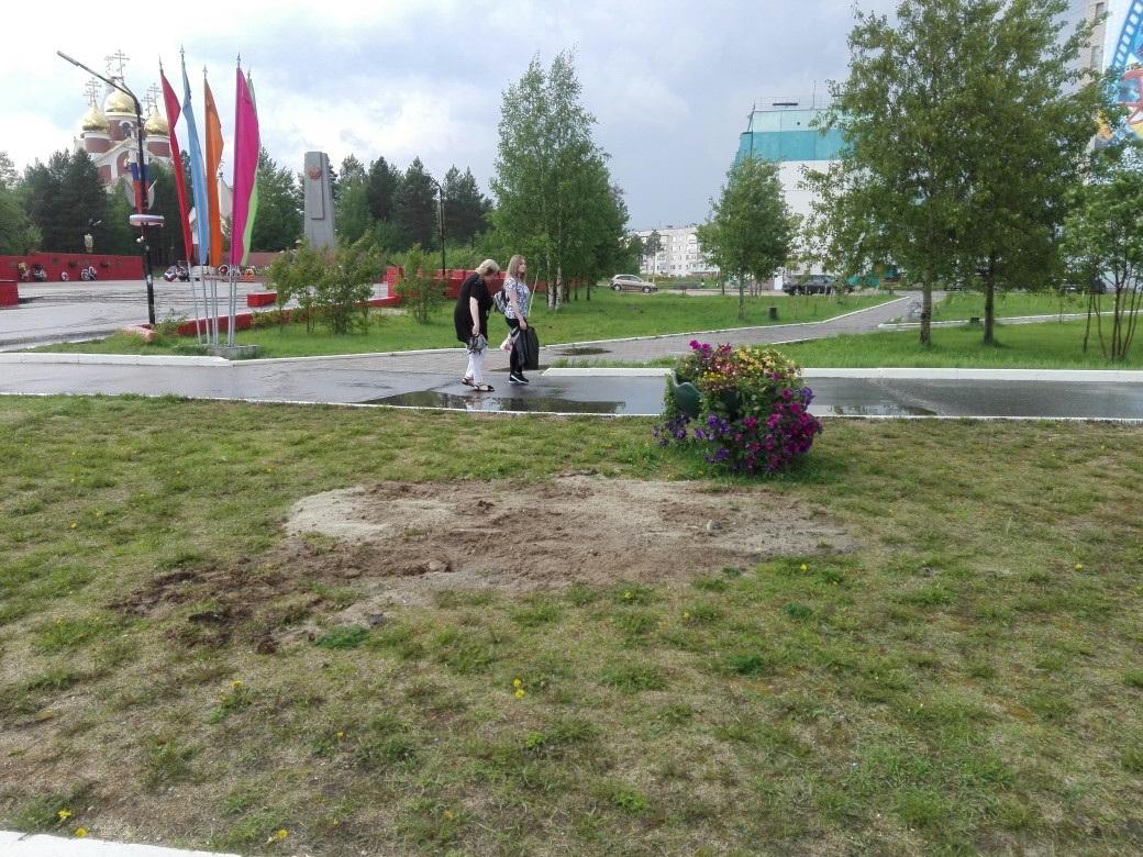 Женщина иребенок провалились под землю вовремя прогулки вцентре Ноябрьска